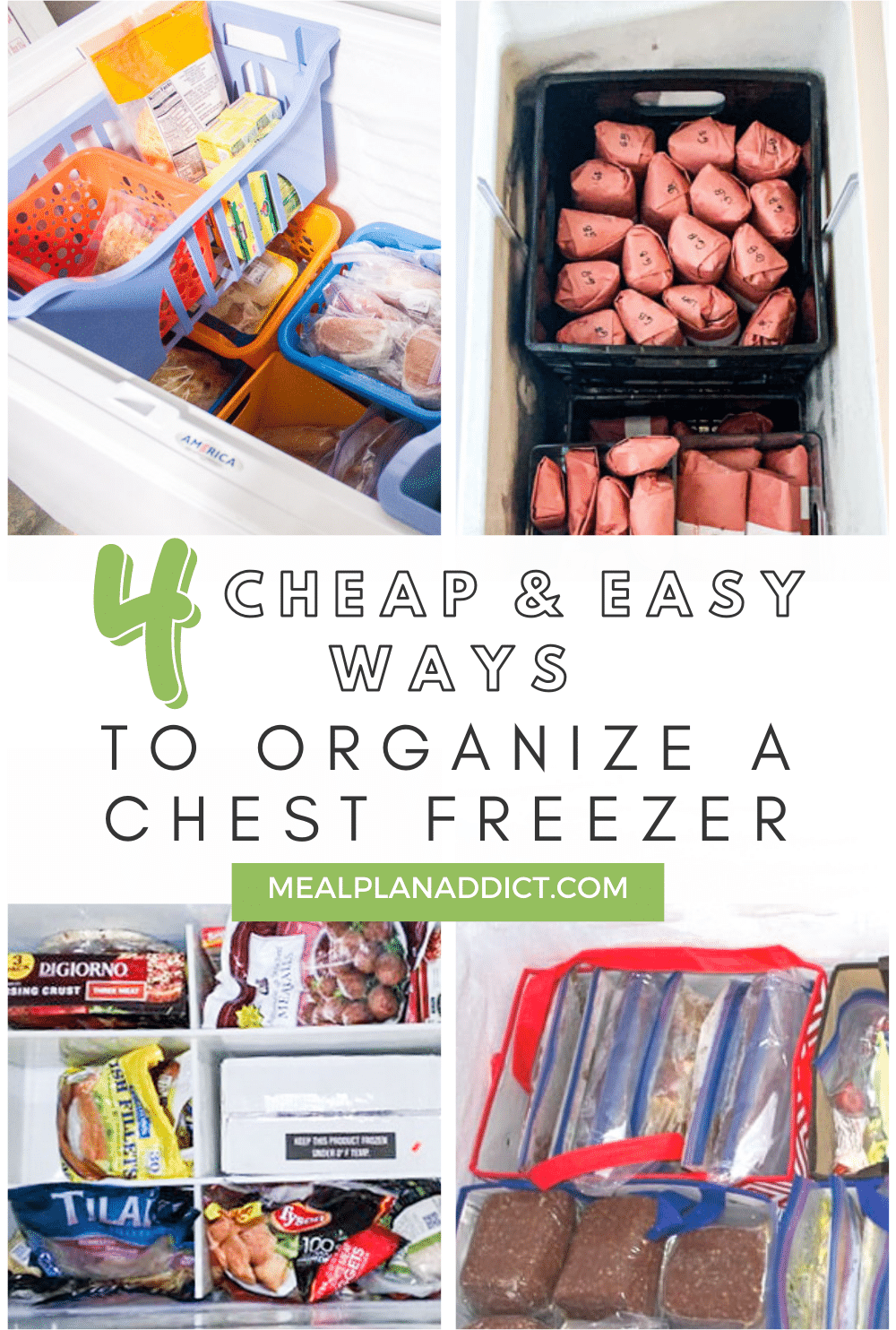 4 cheap and easy ways to organize a chest freezer