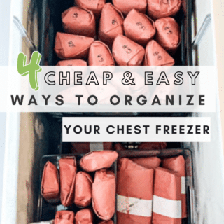 4 cheap and easy ways to organize your chest freezer