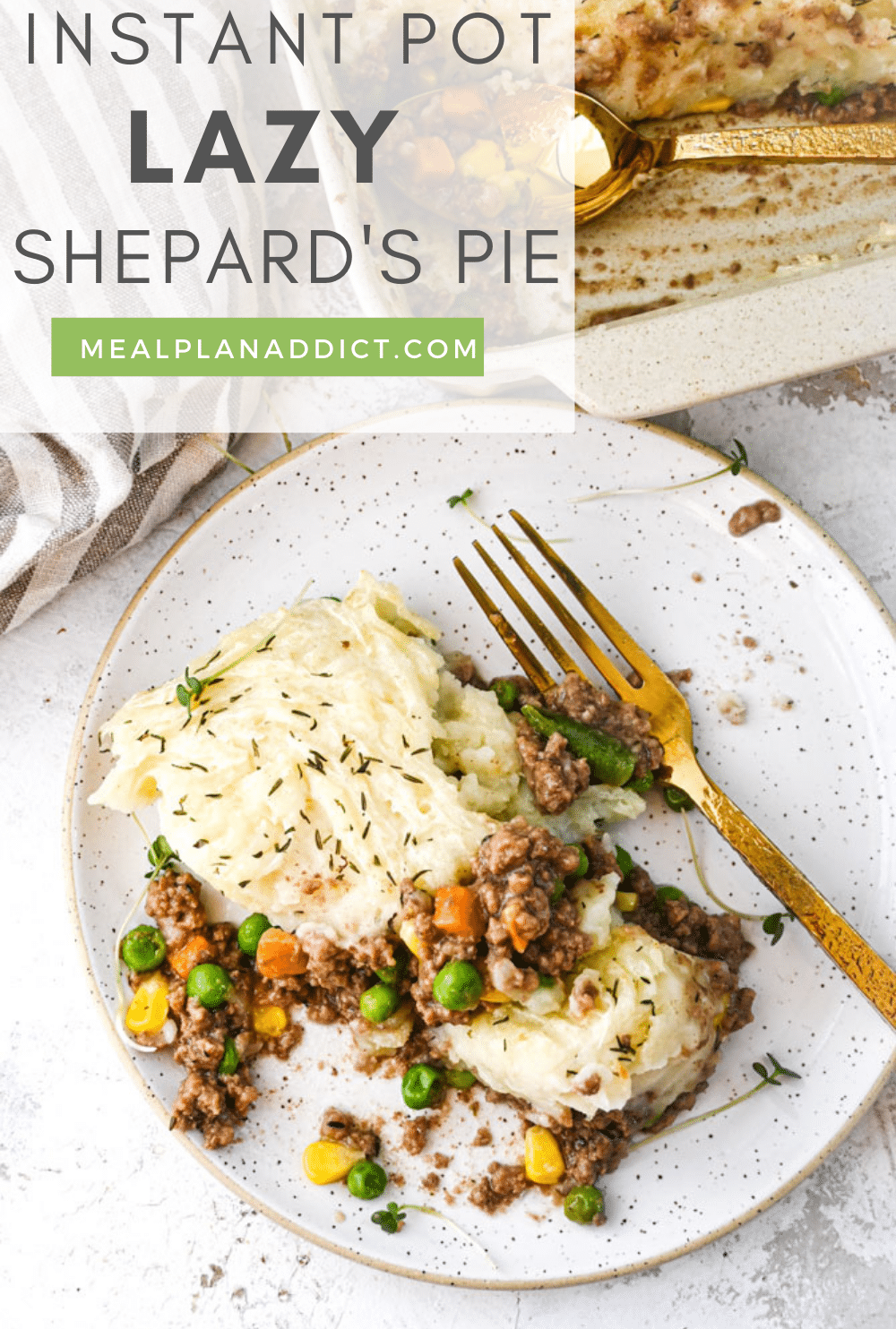 Instant Pot Lazy Shepards Pie Your Family Will Love | Meal Plan Addict