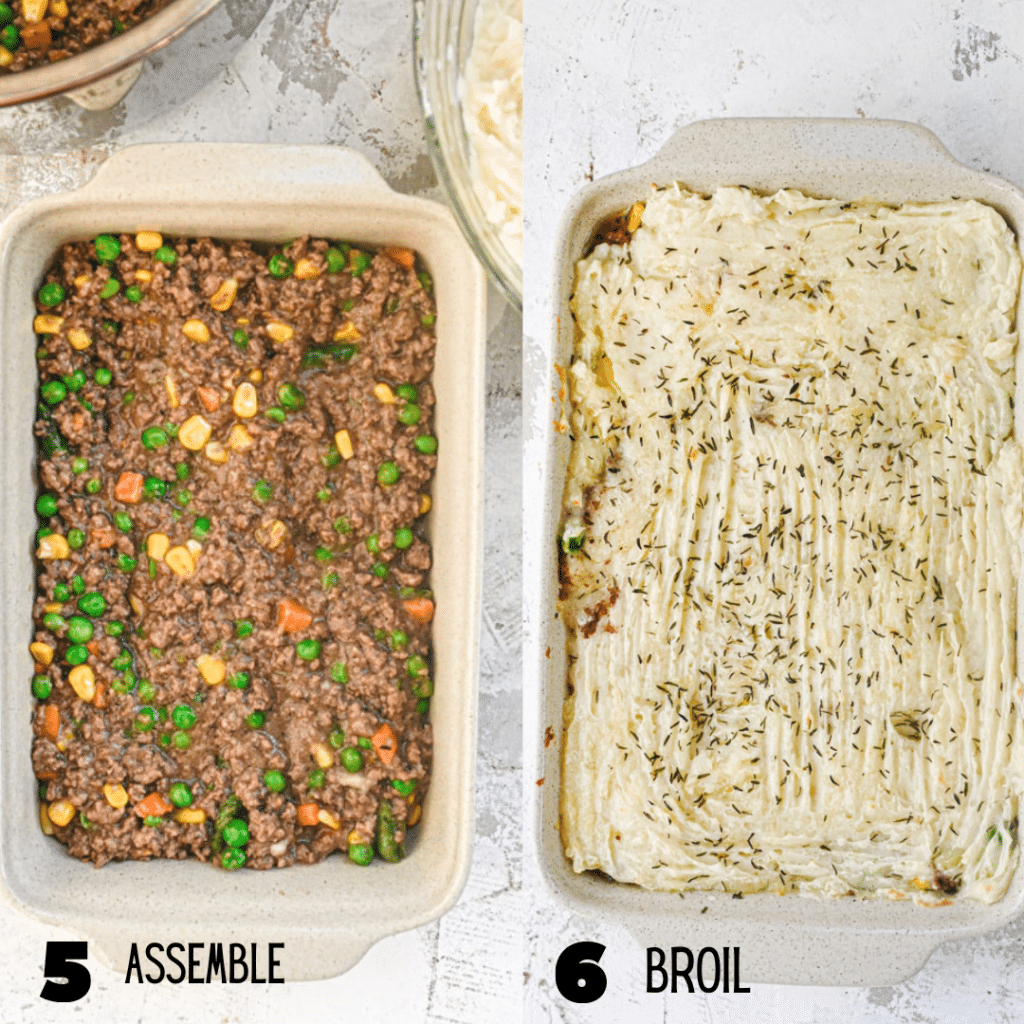 how to assemble shepards pie