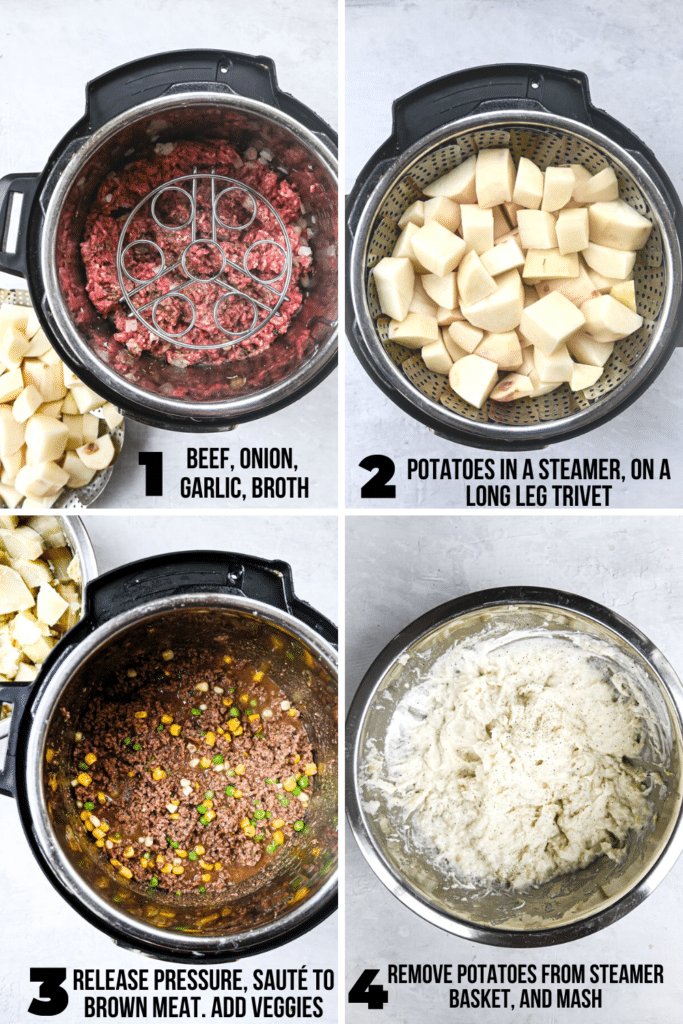 how to make instant pot Shepard's pie