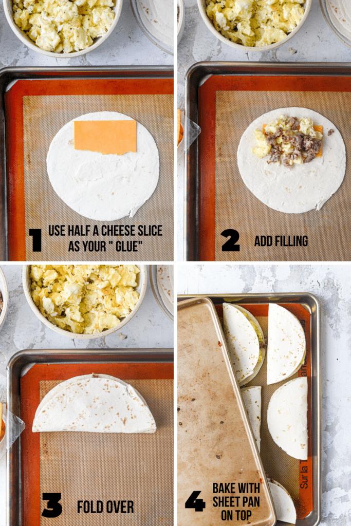 how to make freezer breakfast tacos