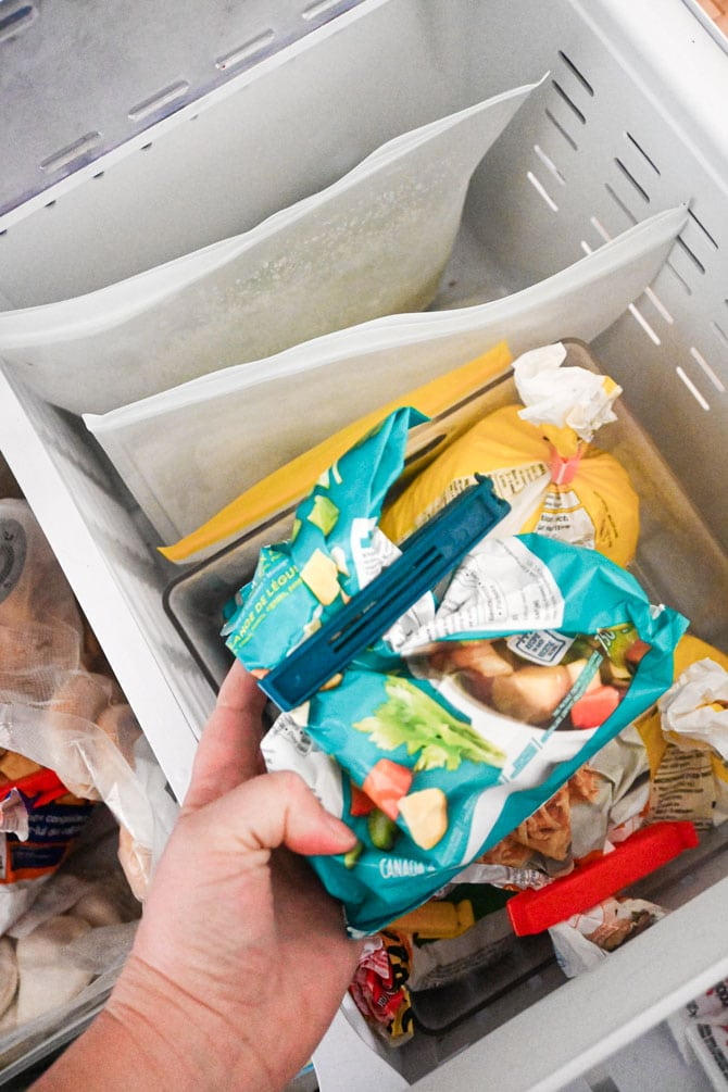 consume and cut bags in freezer