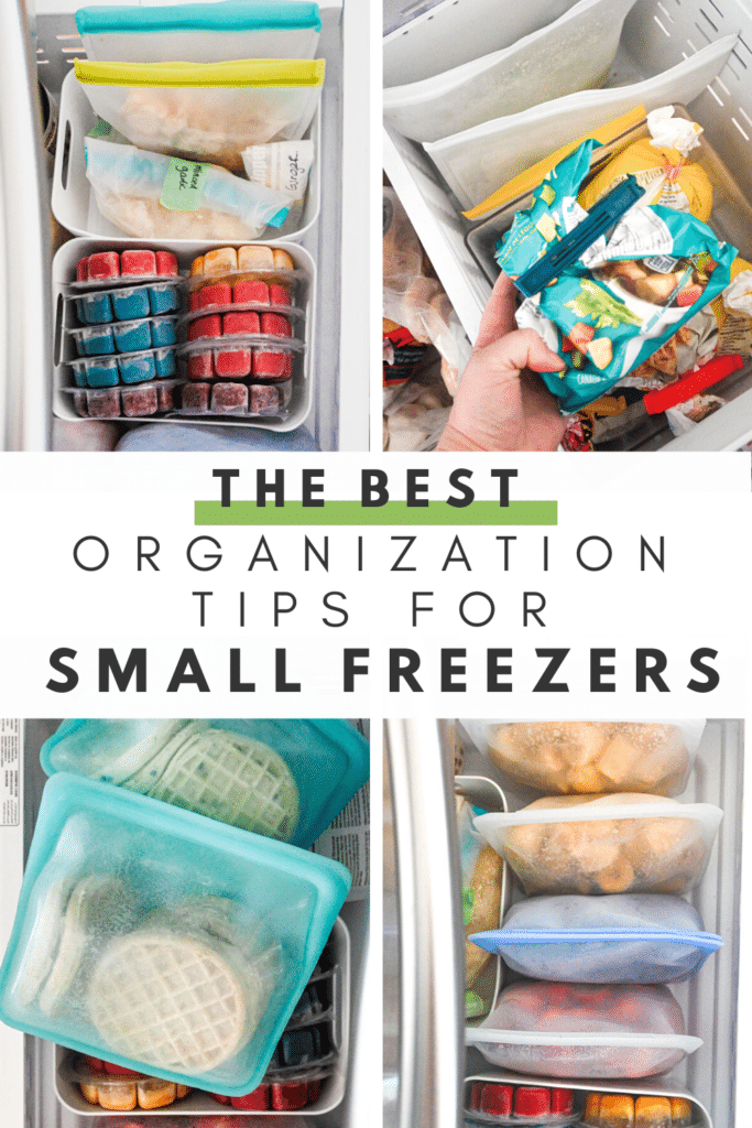 organization tips for small freezers collage