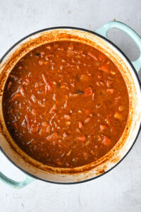 cooked down enchilada sauce